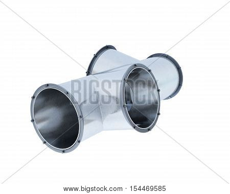 Pipe Fitting Isolated On White Background. 3D Rendering