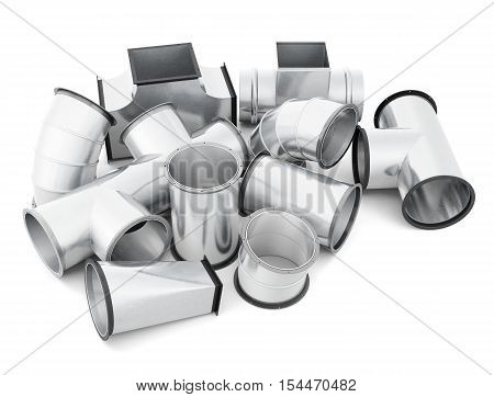 Pipe Isolated On White Background. 3D Rendering