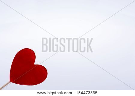 Red Heart Shape At The Top Of A Stick