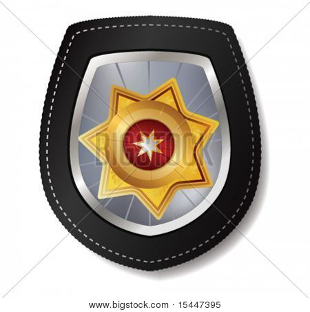 police badge vector illustration