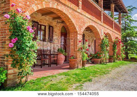 Tuscany Rural house in summer, Tuscany, Italy