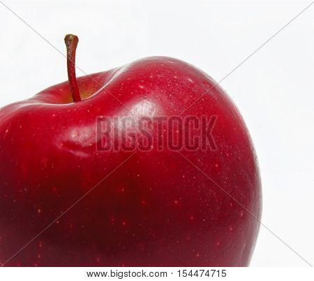 fresh red apple isolated on white no HMO