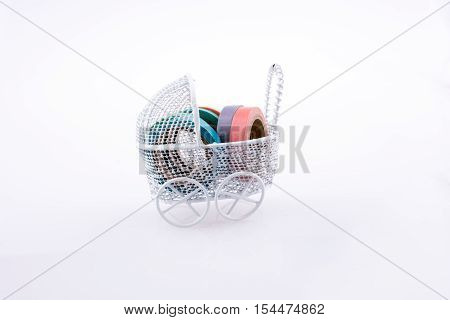 Colorful Insulating Adhesive Tapes In Baby Carriage