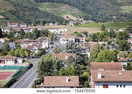 a view over Saint Jean Pied de Port town in France