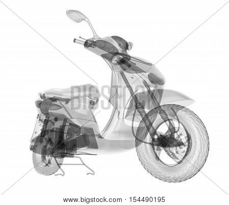 X-ray scooter isolated. Radiography illustration 3d render