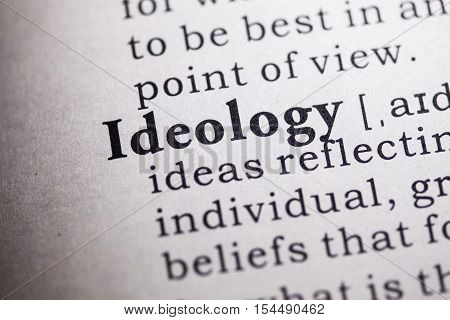 Fake Dictionary Dictionary definition of the word ideology.