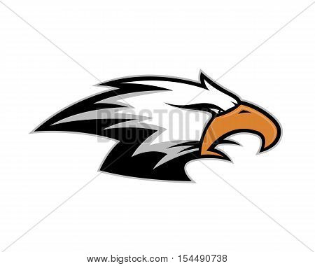 Clipart picture of an eagle head cartoon mascot logo character poster
