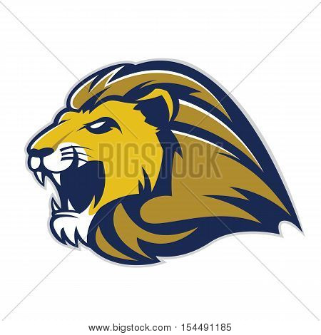 Clipart picture of a lion head cartoon mascot logo character