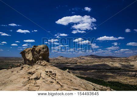 Bektau ata extinct volcano in central Kazakhstan ancient and amazing natural phenomenon