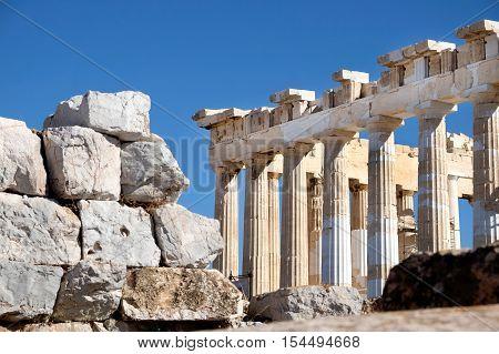 The Parthenon at the Acropolis Athens Greece
