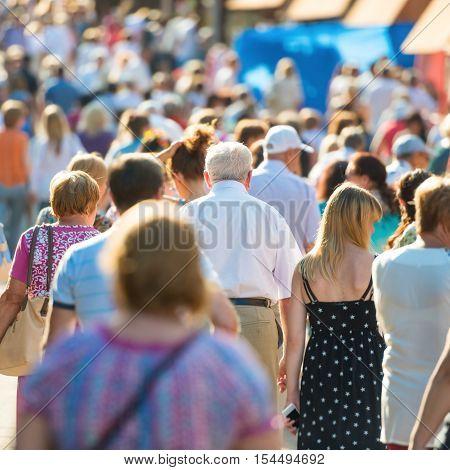People Walking On The City Street