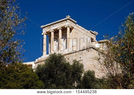 The Temple of Athena in Acropolis Athens Greece