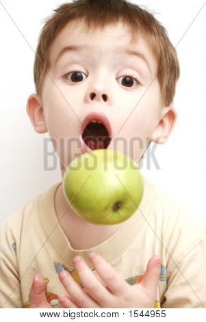 Surprise Of The Child With The Open Mouth