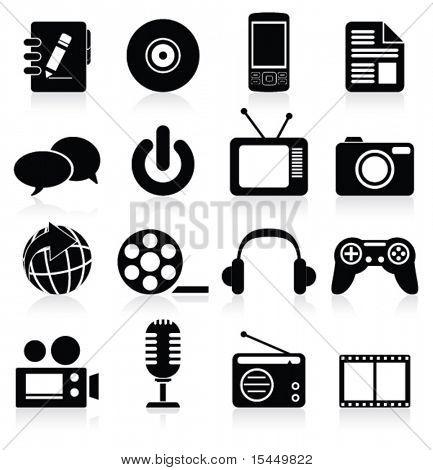 Multimedia icon. Vector