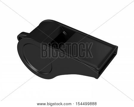 Whistle Isolated on White Background, 3D rendering