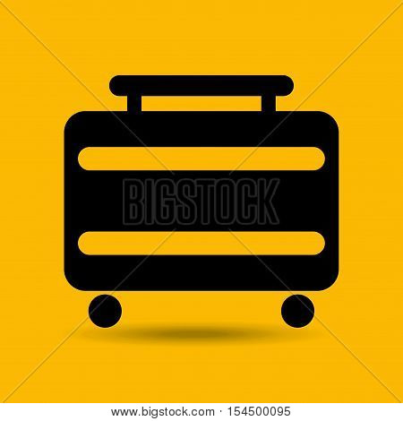 travel suitcase service hotel design, vector illustration  graphic