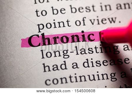Fake Dictionary Dictionary definition of the word Chronic.