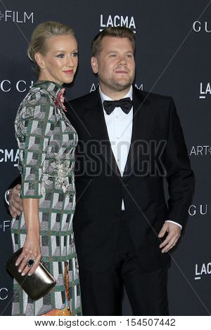 LOS ANGELES - OCT 29:  Julia Carey, James Corden at the 2016 LACMA Art + Film Gala at Los Angeels Country Museum of Art on October 29, 2016 in Los Angeles, CA