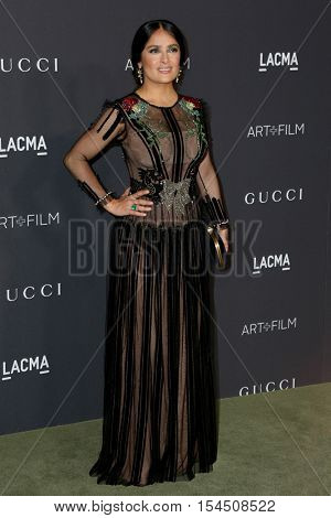 LOS ANGELES - OCT 29:  Salma Hayek at the 2016 LACMA Art + Film Gala at Los Angeels Country Museum of Art on October 29, 2016 in Los Angeles, CA