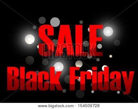 Black Friday Sale Background. Sales And Discount. Black Background With Flashes Of Bright Lights. Ve