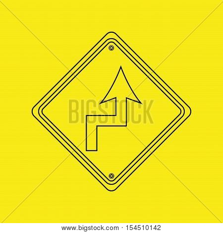 signal traffic yellow icon graphic vector illustration eps 10