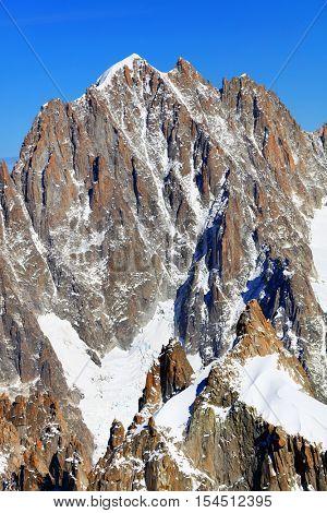 Aiguille Verte (4122m) in Haute Savoie, France