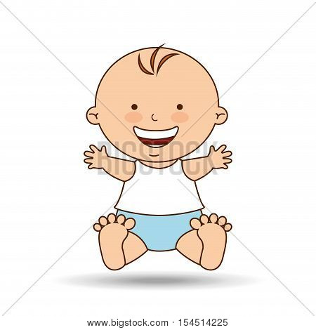 boy baby cute smiling icon graphic vector illustration eps 10