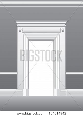Portal architectural detail, vector illustration for design, printing and web
