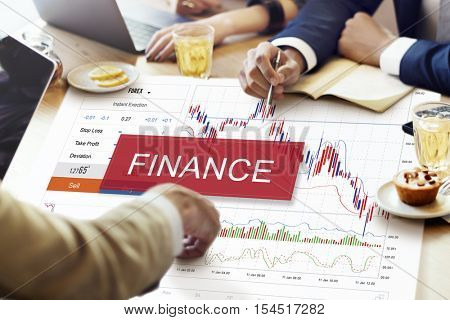 Financial Stocks Money Date Graphic Concept
