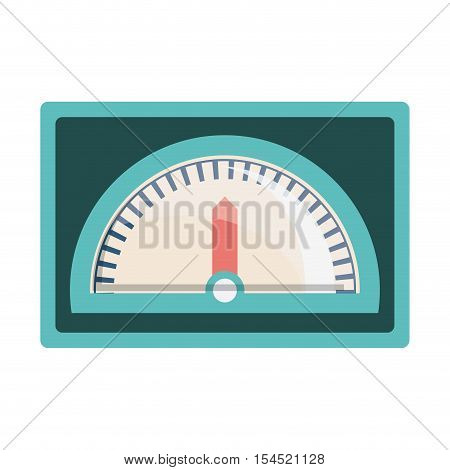 speedometer device icon over white background. vector illustration