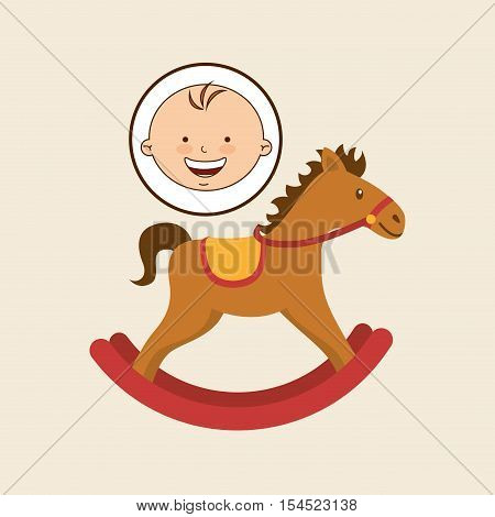 happy baby toy design graphic vector illustration eps 10