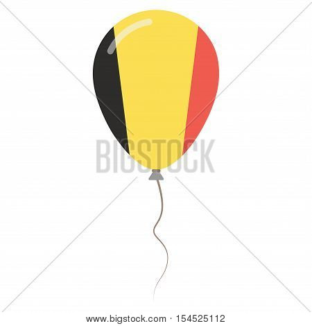 Kingdom Of Belgium National Colors Isolated Balloon On White Background. Independence Day Patriotic