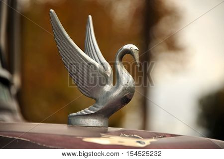 This is a photo of a hood ornament.