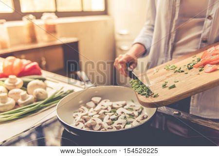 Beautiful Girl Cooking