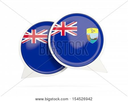 Flag Of Saint Helena, Round Chat Icon