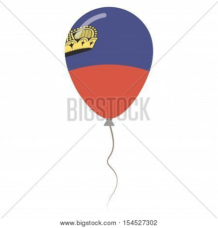 Principality Of Liechtenstein National Colors Isolated Balloon On White Background. Independence Day
