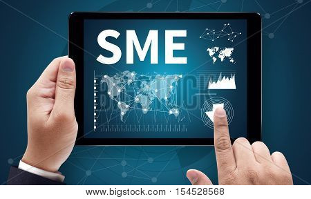 SME or Small and medium-sized enterprises KEY TO SME SUCCESS poster
