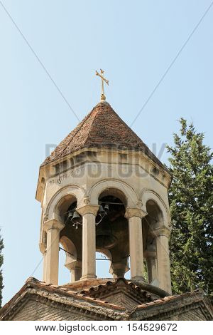 Bell Tower Of Old Church In Tbilisi, Georgia