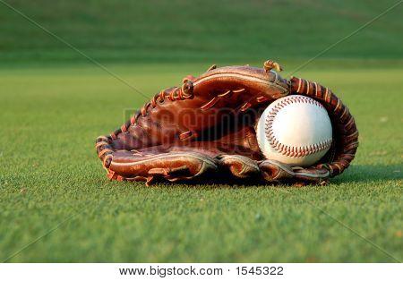 Baseball Glove On The Field