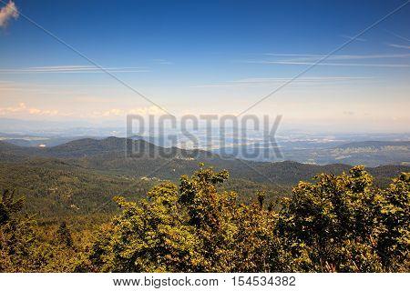 Topview from Kočevski Rog called also Kočevje Rog Slovenia