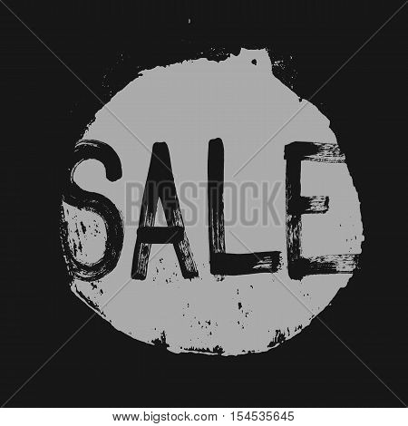 Sale label in a grunge style Abstract Vector Illustration