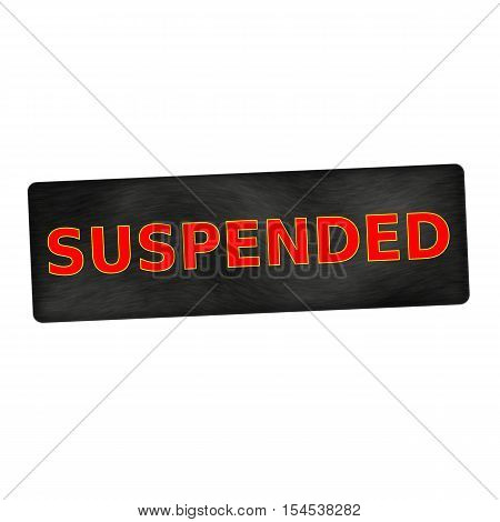 suspended red wording on black wood background
