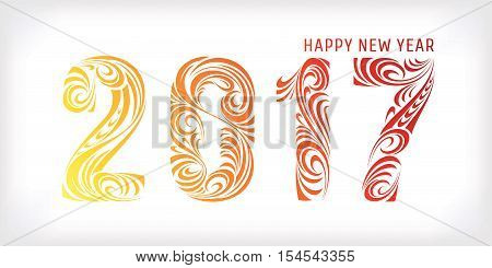 2017 new year greeting banner vector illustration