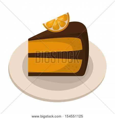 Homemade pumpkin pie with whipped cream. Orange pie baked homemade gourmet slice delicious. Vector tasty crust traditional piece portion orange pie vegetable nutrition dish cooking.