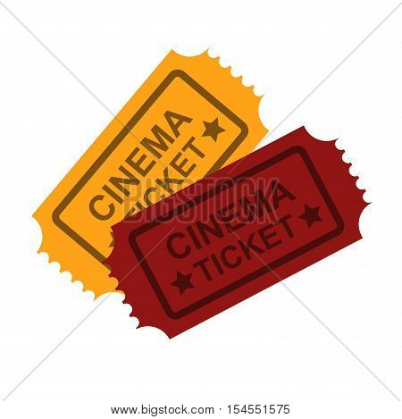 Cinema vector tickets on background. Cinema tickets vector symbol. Vector tickets isolated. Tickets movie, cinema tickets