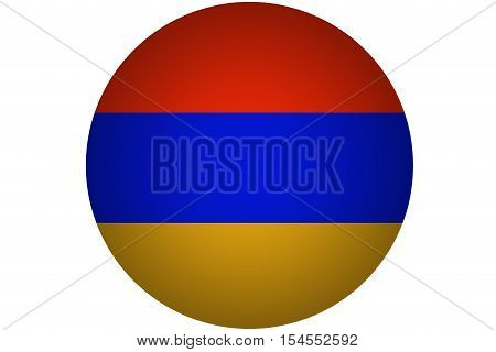 3D Armenia flag ,original and simple Armenia flag.Nation flag