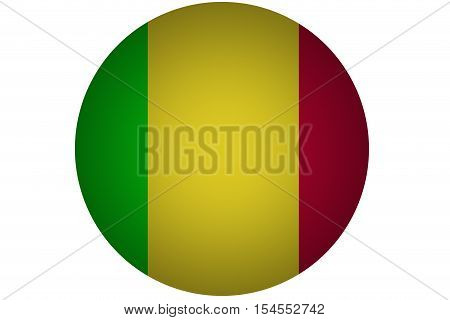 3D Mali flag ,original and simple Mali flag.Nation flag