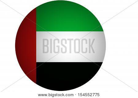 D United Arab Emirates flag.original and simple United Arab Emirates flag.UAE.Nation flag