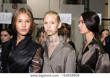 Gorgeous Models Posing In The Backstage