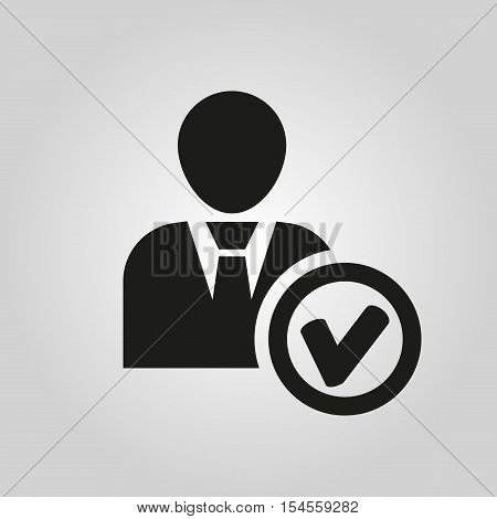 The add user icon. Add friend and avatar symbol. UI. Web. Logo. Sign. Flat design. App. Stock vector